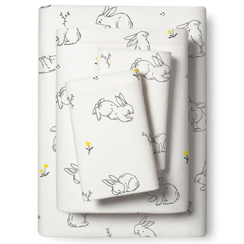 Organic Cotton Sheet Set - Bunny in the Meadow