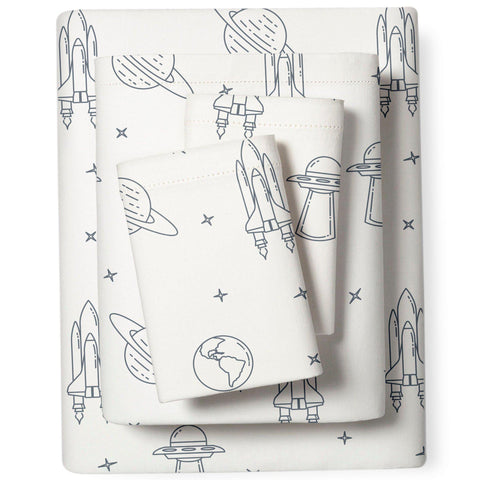 Organic Cotton Sheet Set - Cobi Blue Celestial