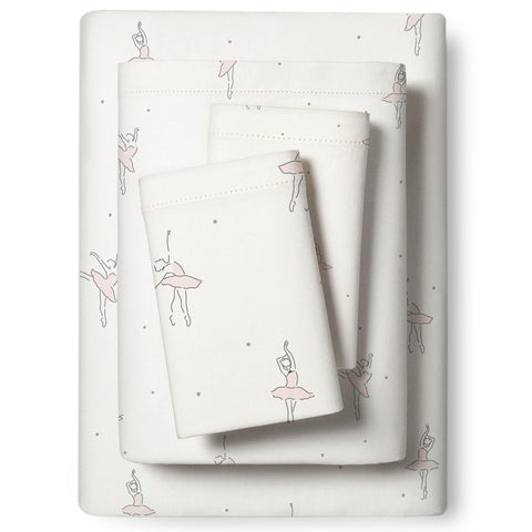 Organic Cotton Sheet Set - Lola Blush Ballerina