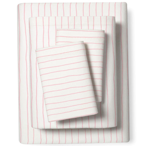 Organic Cotton Sheet Set - Lola Blush Groovy Stripes
