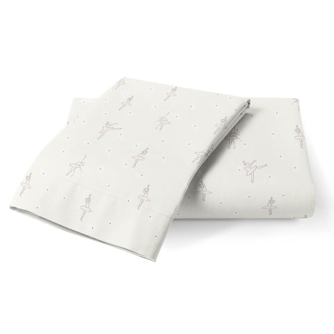 Organic Cotton Toddler Pillowcase - Lola Blush Ballerina