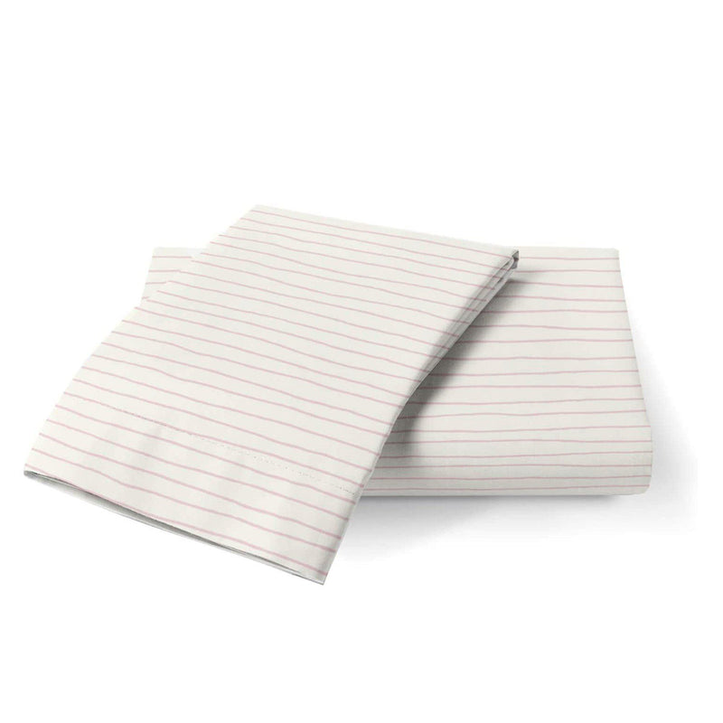 Organic Cotton Toddler Pillowcase - Lola Blush Groovy Stripes-Makemake Organics