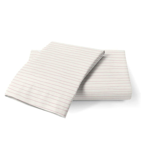 Organic Cotton Toddler Pillowcase - Lola Blush Groovy Stripes