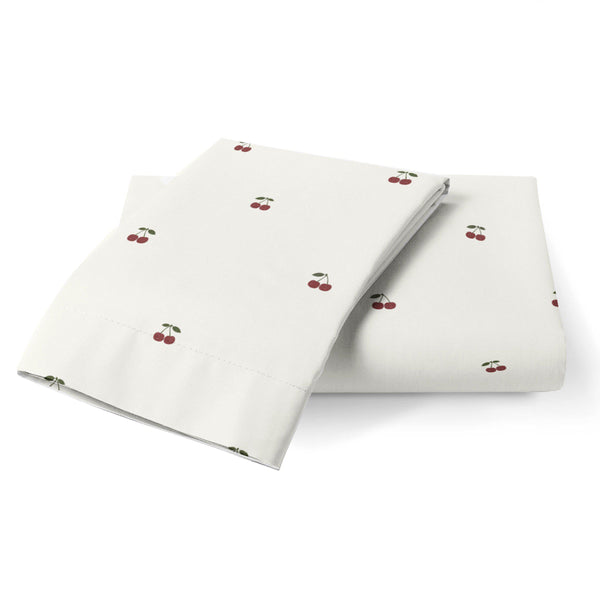 Organic Cotton Toddler Pillowcase - Meri Cherry-Makemake Organics