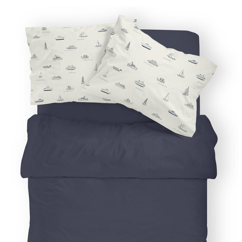 Organic Cotton Toddler Pillowcase - Sail Away-Makemake Organics