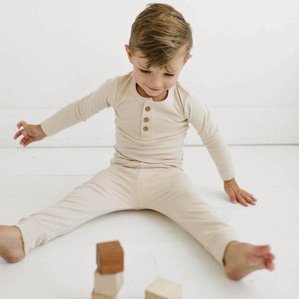 Organic Cotton Top & Bottoms Set - Eli Oat-Makemake Organics