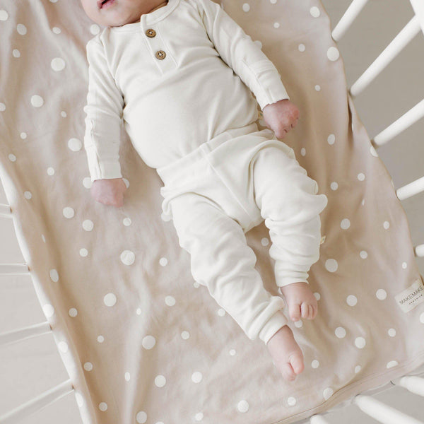 Organic Cotton Top & Bottoms Set - Stella Ivory-Makemake Organics