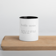 Load image into Gallery viewer, Faith Verse Accent Tea Coffee Mug Cup 11oz Cups & Mugs Salt and Light Prism Arts