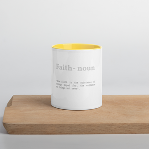 Faith Verse Accent Tea Coffee Mug Cup 11oz Cups & Mugs Salt and Light Prism Arts