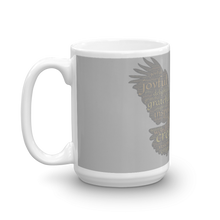 Load image into Gallery viewer, Rising Eagle Grey & White Coffee Tea Mug 11oz & 15oz Cups & Mugs Salt and Light Prism Arts