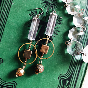 Geometric earrings -clear-