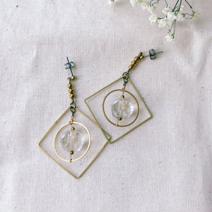 Chandelier earrings -crystal-