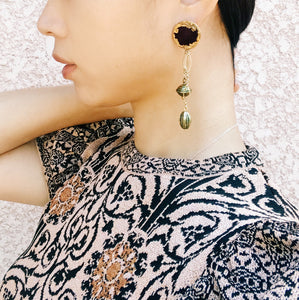 Vintage earrings -velvet-