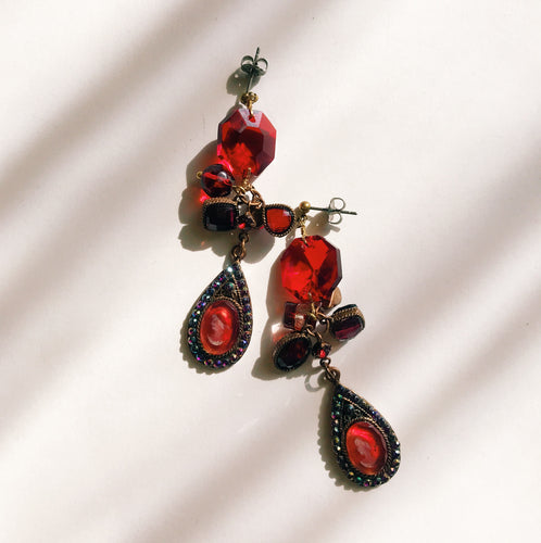 Drop Intaglio earrings