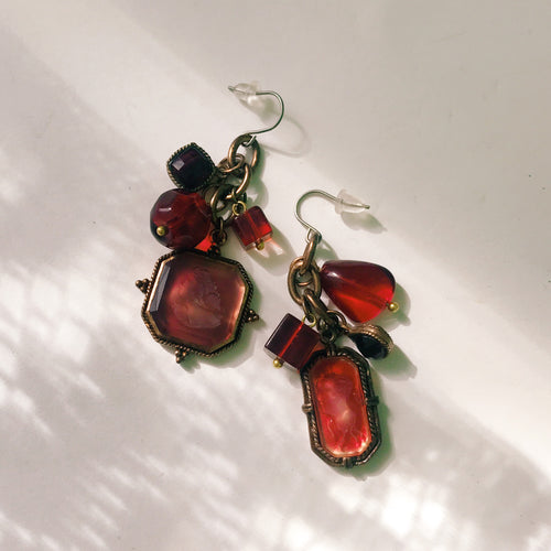 Intaglio earrings