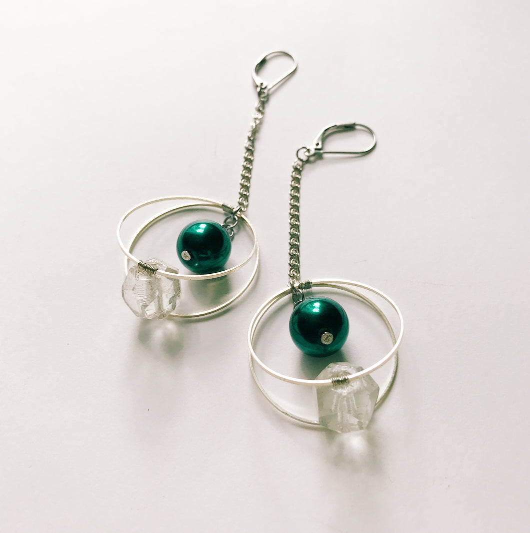 Planet earrings -long-
