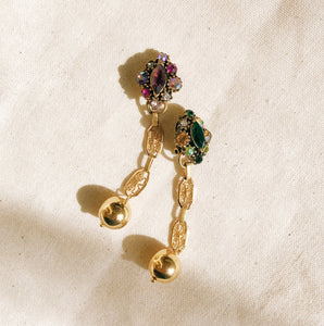 Vintage gem earrings