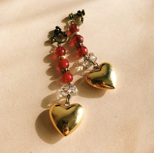 Heart bonbon earrings