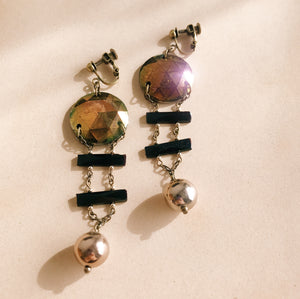 Vintage glass earrings