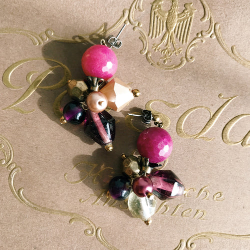 Gelato earrings -framboise-