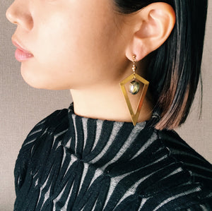 Edge earrings -gold-