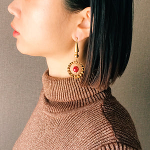 Gold foop earrings