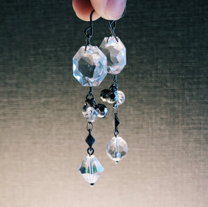 Ice glass earrings