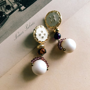 Bonbon earrings -purple/gold-