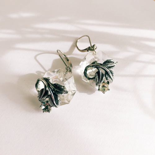 Leaf chandelier earrings