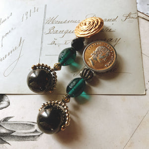 Bonbon earrings -green-