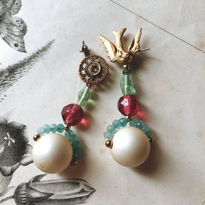 Bonbon earrings -bird-