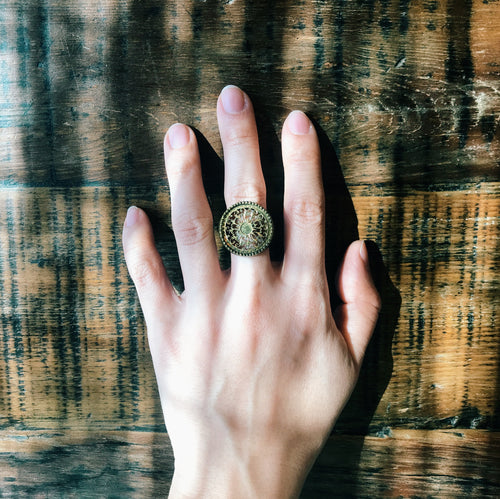 Antique movement ring No.1