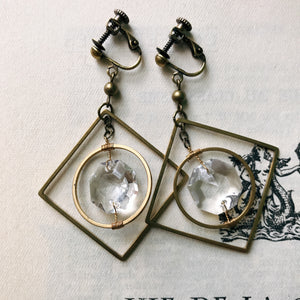 Chandelier earrings -clear-