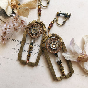 Door earrings -clear-