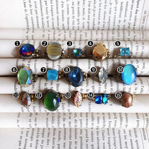 Cabochon ring -cool colors-