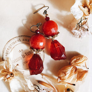 Petit bonbon earrings -grenade-
