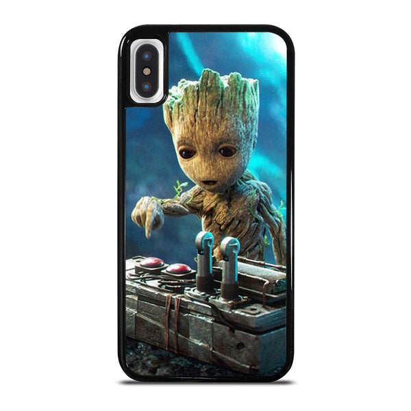 BABY GROOT DEATH BUTTON iPhone X / XS Case