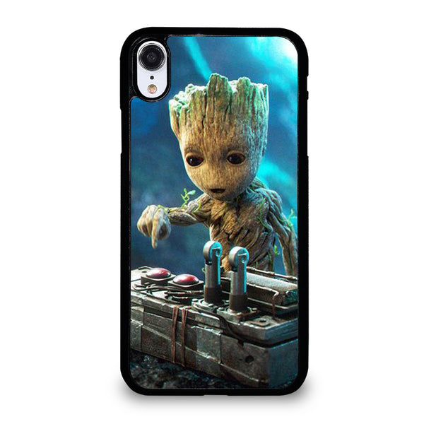 BABY GROOT DEATH BUTTON iPhone XR Case