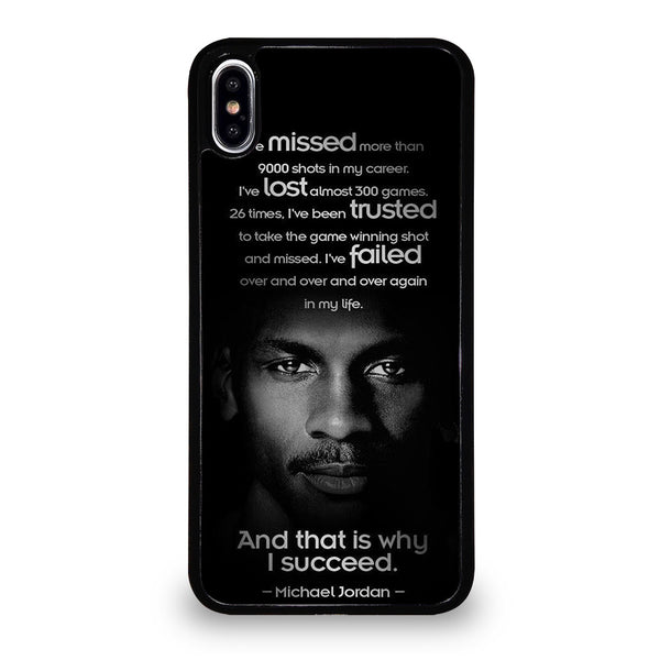 BEST MICHAEL JORDAN QUOTE iPhone XS Max Case