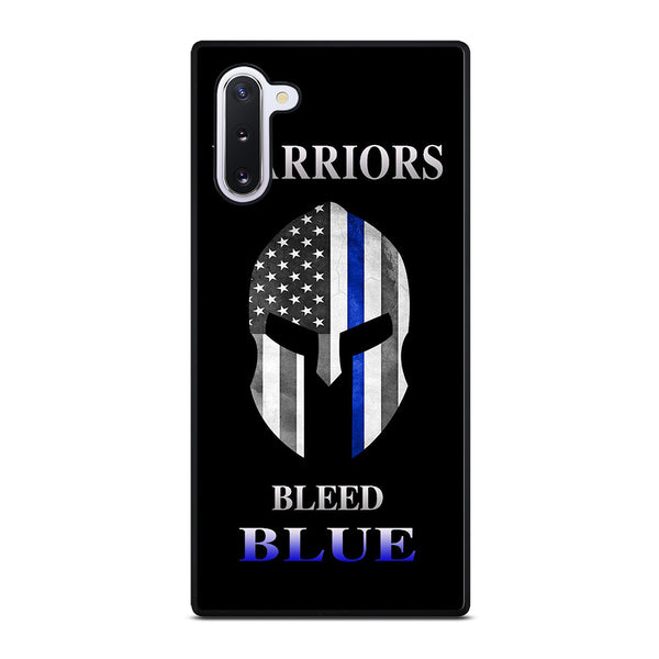 BLUE LINE POLICE WARRIOR SKULL #1 Samsung Galaxy Note 10 Case