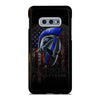 BLUE LINE POLICE WARRIOR SKULL 4 Samsung Galaxy S10 e Case