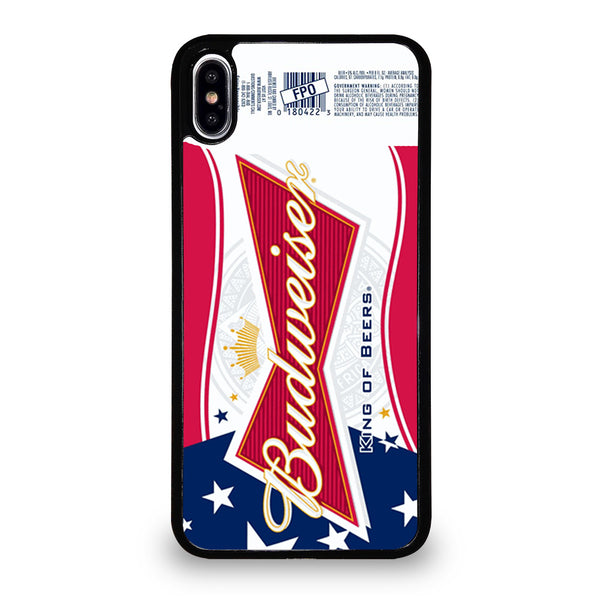 BUDWEISER AMERICAN FLAG LOGO iPhone XS Max Case