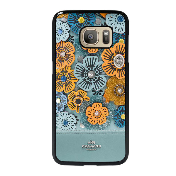 COACH BLUE TEA ROSE Samsung Galaxy S7 Case
