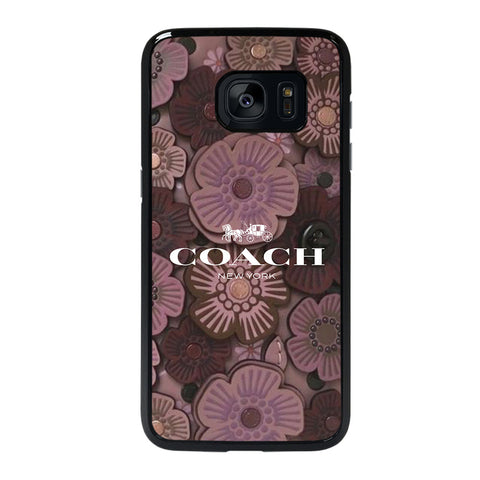 COACH NEW YORK TEA ROSE 2 Samsung Galaxy s7 edge Case