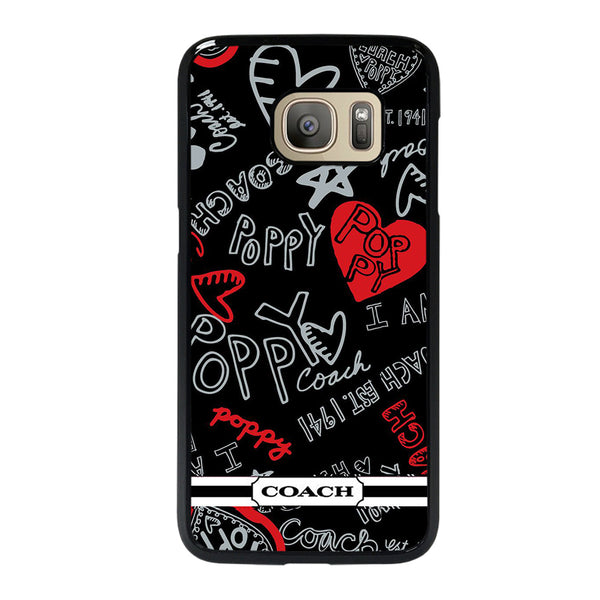 COACH POPPY BLACK Samsung Galaxy S7 Case