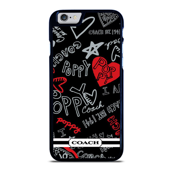 COACH POPPY BLACK iPhone 6 / 6S Case