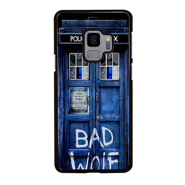DR WHO TARDIS DOOR BAD WOLF #2 Samsung Galaxy S9 Case