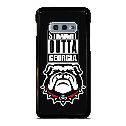 GEORGIA BULLDOGS UGA STRAIGHT OUTTA Samsung Galaxy S10 e Case