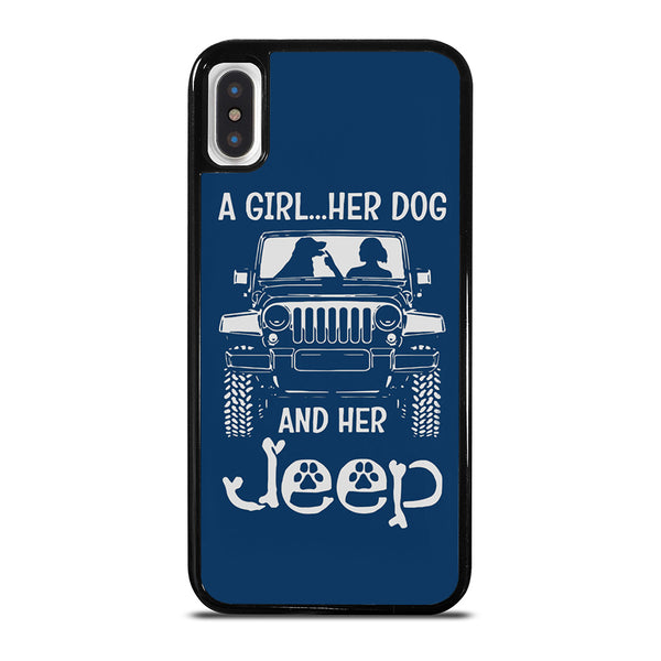 GIRL HER DOG & HER JEEP iPhone X / XS Case