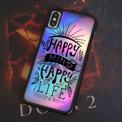 Happy Mind Happy Live 2 iPhone Case